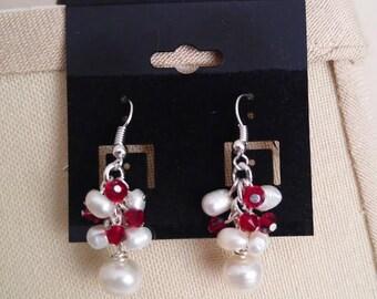 Pearls and Swarovski Crystal Earrings