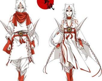 Okami game Amaterasu cosplay costume