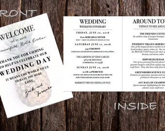 Wedding Program/ Itinerary/ welcome bag