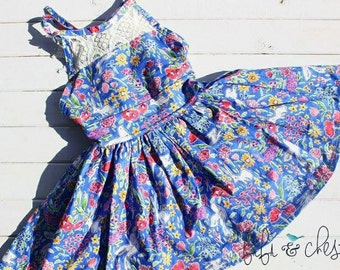 Girls summer dress, baby dress, vintage dress, easter dress, spring dress