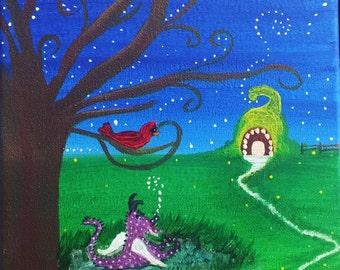 """Whimsical Eve Canvas 8""""x 10"""""""