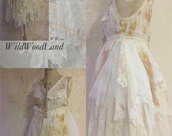 "Boho wedding dress , Fairy wedding, Victorian French lace, alternative wedding, love wedding dress, Vintage wedding, Dress, ""Lucy"""