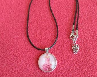 Cabochon Print Necklace