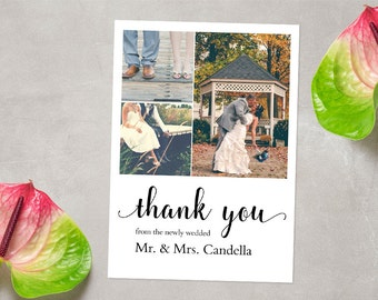 CUSTOM Photo Thank You Card, Wedding Thank You Card, Printable Thank You Card, Thank You Card, Thank You Postcard, DIGITAL FILE 5x7