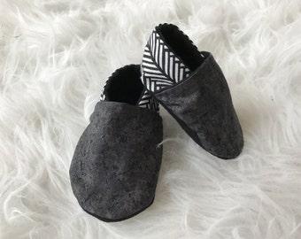 Concrete baby booties | grunge baby booties