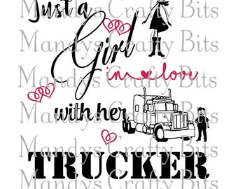 SVG Girl in love her trucker