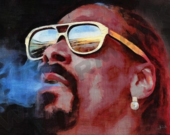 Snoop Dogg Art Print - Rapper Oil Painting Poster  LFF0188
