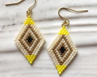 Beaded Drop Earrings / Non Hole Earrings