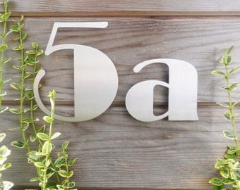 Art Deco House Numbers, Stainless Steel House Numbers, Art Deco Stainless Numbers, Broadway Style Numbers, Stainless Steel Numbers