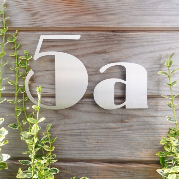 art deco house numbers stainless steel house numbers art. Black Bedroom Furniture Sets. Home Design Ideas