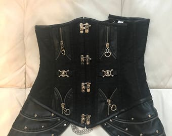Black corset with great detail