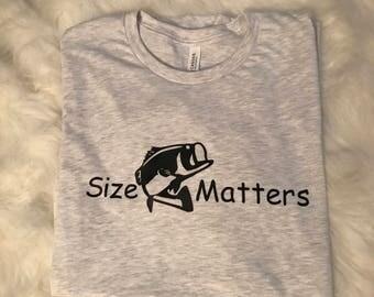 FREE SHIPPING | Size Matters Men's Fishing Shirt