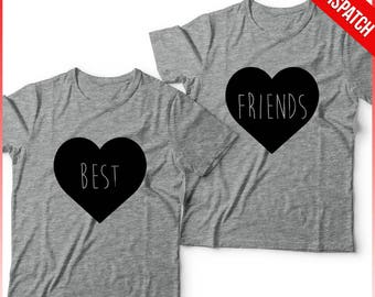Best Friends T shirts Matching Set -  FAST DISPATCH! Best Friends Outfit Festival Outfit Gift For Best Friend BFF Outfit Bff shirt bff gift