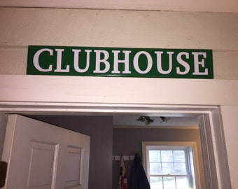Clubhouse Golf Sign