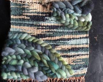 Watercolor Weaving | Woven Wall Hanging