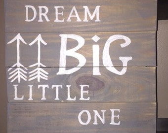 Reclaimed wood sign; baby sign; hand painted; babies room sign