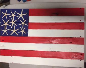 Seaside American Flag