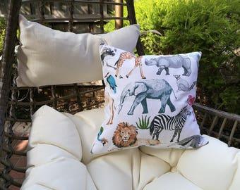 Safari Animals Cushion | 41 x 41cms | With insert