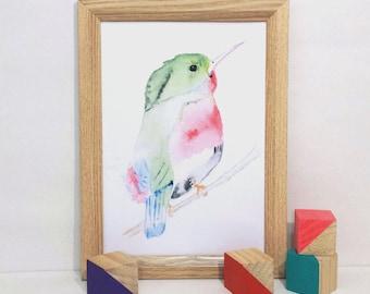 Hummingbird Art Print - Natural Collection