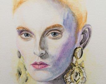 Portrait de femme, modèle
