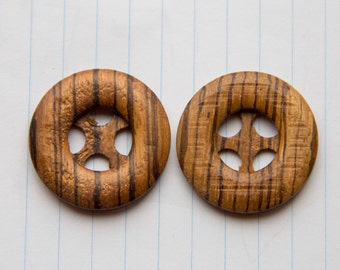 Wooden buttons vintage, vintage buttons of wood, 4 hole buttons, real wood buttons, button wood,