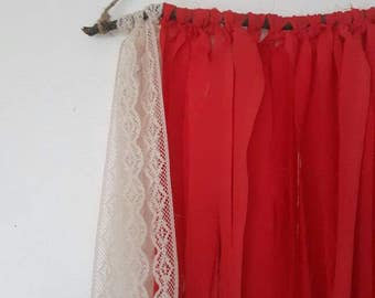 Pink Lace Wall Hanging