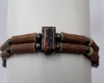 bracelet noisetier jaspe / hazelwood bracelet jaspe free shipping canada USA