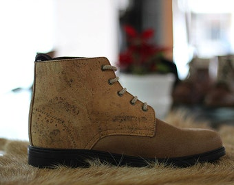 Leather with Cork Shoes recycled tyre soles Portuguese vintage -Top quality!