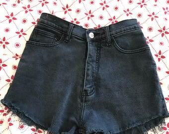 Vintage high-waisted denim shorts