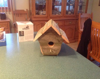 Bird house rustic reclaimed wood new design