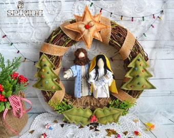 Christmas Nativity Christmas wreath