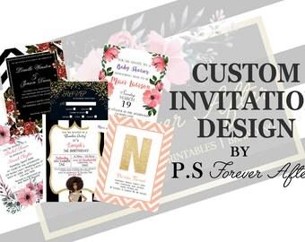 Custom Invitation, Custom Invite, Save the Date, Wedding Invite, Bridal Shower Invite, Baby Shower, Birthday Invitation, Digital Invitation