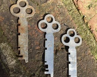 Corbin Keys//Cabinet Keys//Corbin Flat Key Lot