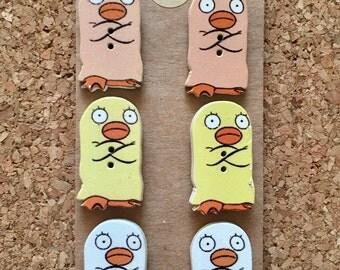 Penguin Thumb Tacks/Push Pins/Magnets - FREE SHIPPING!