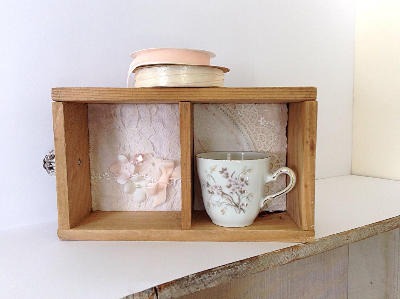 Small wooden box primitive decor rustic wood box altered - Small rustic wooden boxes ...