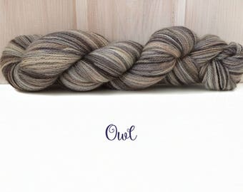 "Merino-Silk Lace Yarn ""Owl"", Hand-dyed"