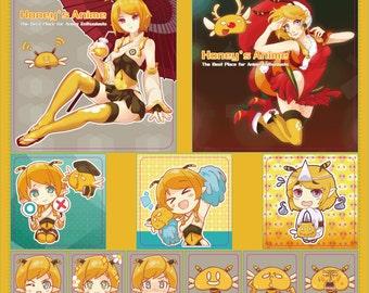Honey's Anime Stickers - Christmas Set