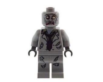 Custom Designed Minifigure - Zombie Monster D (Horror - Halloween) Printed On LEGO Parts