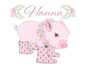 Custom Name Baby Pig Pillow - holds magazines - reading glasses - pens