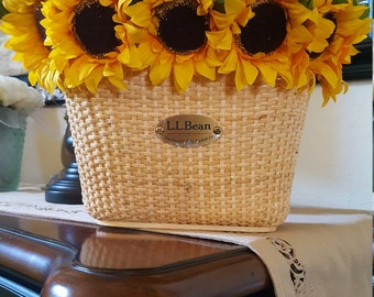 Bike Basket with Silk Daisies, Great Gift for the Hippie Chic in your Life!