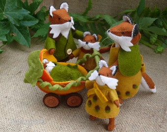 The Fox Family - Three PDF patterns to make the whole Fox Family - PDF patterns - download