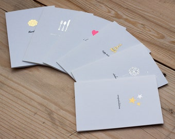 Foil Note Card Set - Special Sentiments | Set of 12