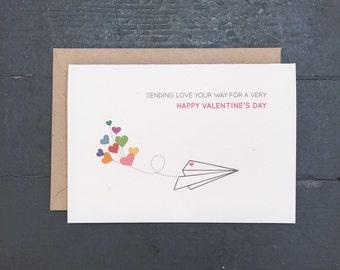 Valentine's Day Card Set | Paper Airplane Valentine - Set of 8