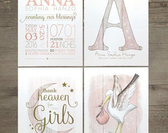 Baby Love set of four print