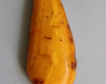 Butterscotch Egg Yolk Natural Amber Pendant 20 gr