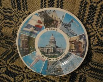 Texas Souvenir Plate  free shipping in u s a