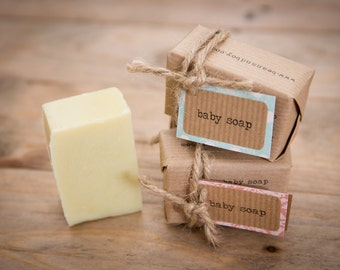 Baby Soap: Certified Natural Vegan Handmade Soap (Cold Process) | Fragrance Free Soap | All Natural Soap | Family Soap Bar | Gentle Soap