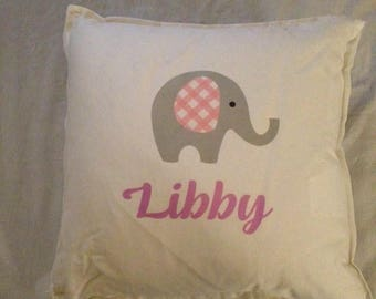 Personalised elephant pillow