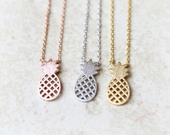 SALE! Ninon pineapple silver plated pineapple fruit was minimalist trendy jewelry necklace