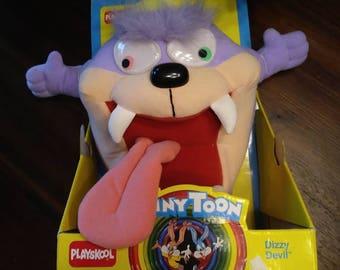 1990 Dizzy Devil Tiny Toon plush! Original packaging. Warner Bros / playschool.